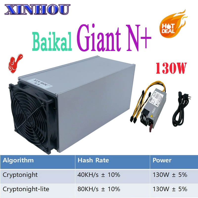 Baikal Giant N+ Asic Miner 130W CryptoNight 40KH/S CryptoNight Lite 80KH/s DCY KRB BCN XMC mining Better than antminer s9 l3 S11 - Mining Bonanza