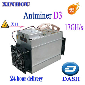 24 hour delivery DASH Miner Antminer D3 17GH/s Asic X11 no psu,More economical than Innosilicon A5 A7 antminer s9 L3 Z9 M3 M10 - Mining Bonanza