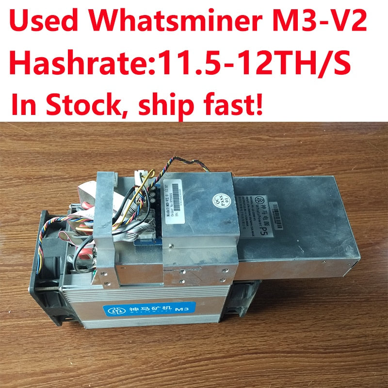 Used Miner BTC BCH Miner WhatsMiner M3X 11.5-12TH/s Asic SHA256 Bitcoin Miner With PSU In Stock Ship Fast! - Mining Bonanza