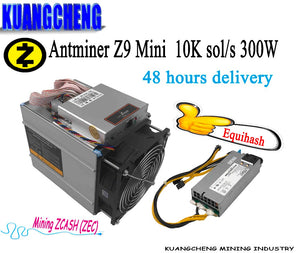 KAUNGCHENG old ZCASH Asic Antminer Z9 Mini 10k (with psu) BITMAIN z9 zec BTC Miner on Equihash nicehash Deliver DHL ems no tax - Mining Bonanza