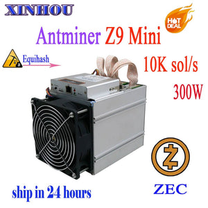 Antminer Z9 mini10k sol/s ASIC miner Equihash no psu Mining machine ZCASH Can be overclocked to14K Miners are better than S9 L3 - Mining Bonanza