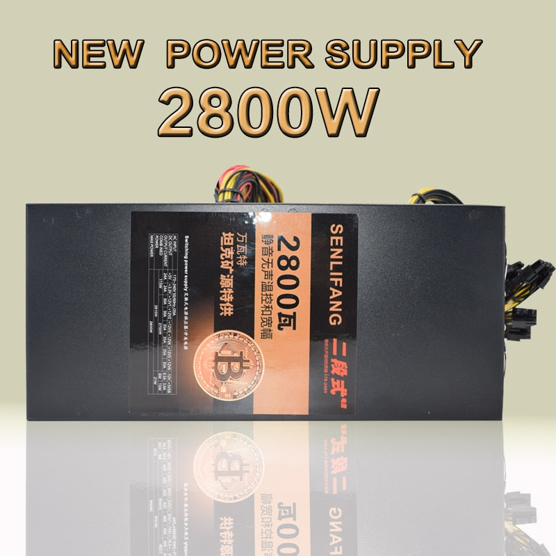 ETH ZCASH MINE power supply (NEW) 2800W with four cooling fans can use for R9 380 RX 470 RX480 6/8 GPU CARDS.GOLD MINER PSU - Mining Bonanza