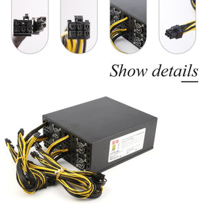 2350W 12V Switching Power Supply for S9 S7 T9 A7 E9 Double Miner Rig BTB LTC ATC Coin Mining Miner Mining Machine - Mining Bonanza