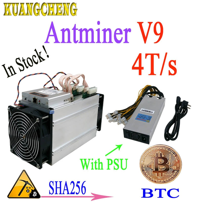 In stock ! Antminer S3 S5 S7 Version New BITMAIN Asic AntMiner V9 4TH/S(with PSU) Bitcoin Btc Miner Economic Than antminer s9 T9 - Mining Bonanza