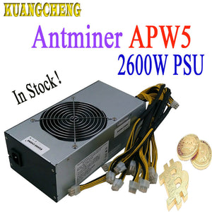 New Antminer BITMAIN  APW5 2600W power supply suitable for antminer miner S9 Z9 T9 DR3 L3+ Innosilicon A9 A8 D9 Baikal G28 BK-X - Mining Bonanza