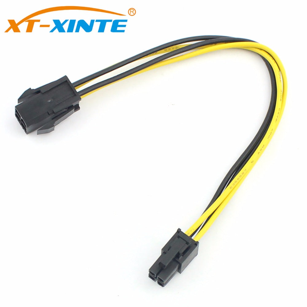 CPU 4Pin Power Supply Extension Cable Cord Desktop ATX 4Pin Power Male to Female Connector Cables UL 18AWG Wire 20cm for Miner - Mining Bonanza