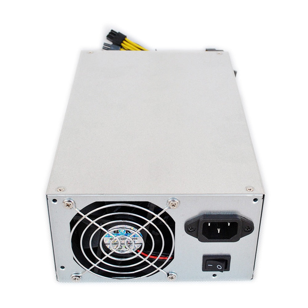 Power Supply Metal Housing 92% Platinum Efficiency for S9 L3+ D3 R-4 A7 E9 Miner Dual Ball Bearing Fan Dedicated Power Supply - Mining Bonanza