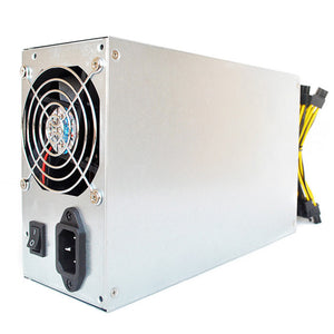 Power Supply with 92% Platinum Efficiency for S9 L3+ D3 R-4 A7 E9 Mining Machines Dual Ball Bearing Fan Dedicated Power Supply - Mining Bonanza