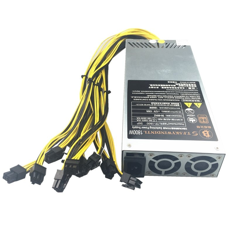 1800W PSU Antminer Bitmain 1800w Power Supply 6PIN Antminer T9 ETH PSU antminer S9 S7 L3 BTC LTC DASH 1800W miner power supply - Mining Bonanza
