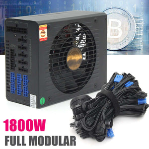 1800W Full Module Bitcoin Mining Miner For 6GPU Power Supply Server Mining Machine ATX Power Unit with EMC 24PIN High Efficiency - Mining Bonanza