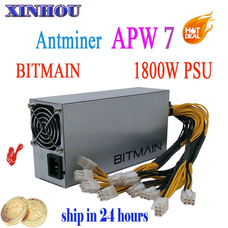 BTC ETH LTC Miner Power Supply APW7 -12-1800 BITMAIN PSU 12V 150A MAX 1800W For ANTMINER S9 T9 DR3 Innosilicon A9 BAIKAL Miner - Mining Bonanza