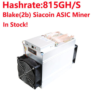 Used Bitmain Antminer A3 815G Blake 2b Algorithm Siacoin Mining machine miner without power supply In Stock!