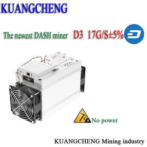 KUANGCHENG Fast Delivery  Bitmain Dash Miner Antminer D3 Hash Rate 17 GH/s 1200W and Hashing algorithm X11 D3 Dash Miner - Mining Bonanza