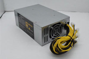 2000W High-efficiency 10x6 Pin Miner Power Supply for 6 GPU Bitcoin Antminer S9 S7 L3+ D3 T9 E9 A4 A6 A7 with 2 Cooling Fans - Mining Bonanza