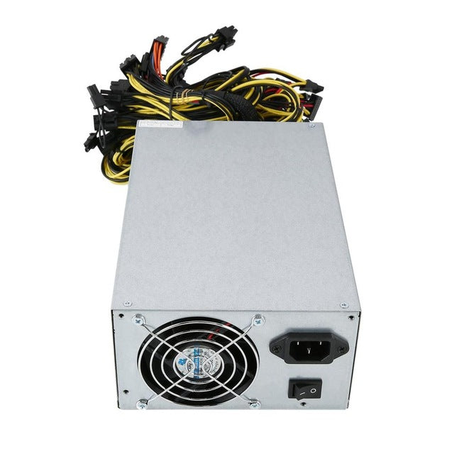 1800W High Efficiency Power Supply for ATX Coin Mining Miner Machine 6 GPU ETH BTC Ethereum with Low Noise Cooling Fan - Mining Bonanza