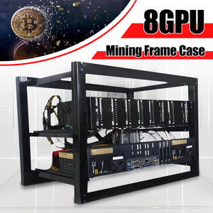 8GPU Dual power Mining Case Open Air Rig Push-pull Miner Frame for 8 GPU ETC BTH Ethereum New Computer Mining Case Frame Server - Mining Bonanza