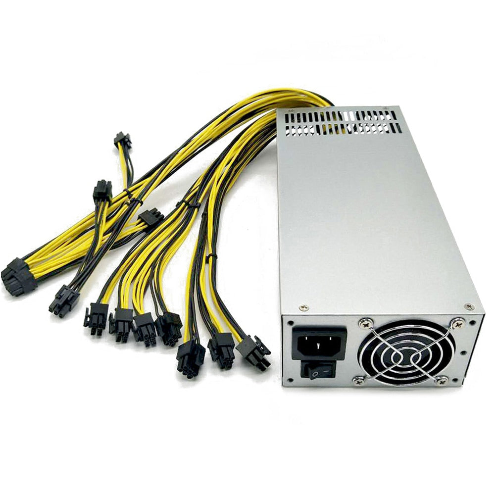 160-270V 2400W Dual Ball Bearing Fan Dedicated Power Supply for S9 S11 E11 Z11 R-4 A7 E9I Miner Mining Machines with Metal Housing - Mining Bonanza