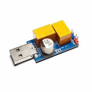 USB Watchdog Card Double Relay Unattended Automatic Restart Blue Screen Crash Timer Reboot for 24H Server BTC Miner - Mining Bonanza