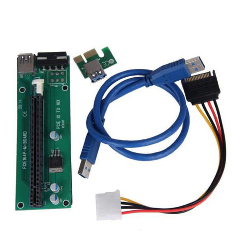 HIPERDEAL New PCI-E Express Powered Riser Card W/ USB 3.0 extender Cable 1x to 16x Monero 18Apr17 Drop Ship F - Mining Bonanza