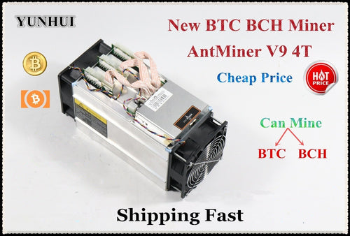 Without PSU New AntMiner V9 4T 4TH/S Bitcoin Miner Asic Miner BTC BCH Miner Economic Than S9 Ebit E9 Whatsminer M3 - Mining Bonanza