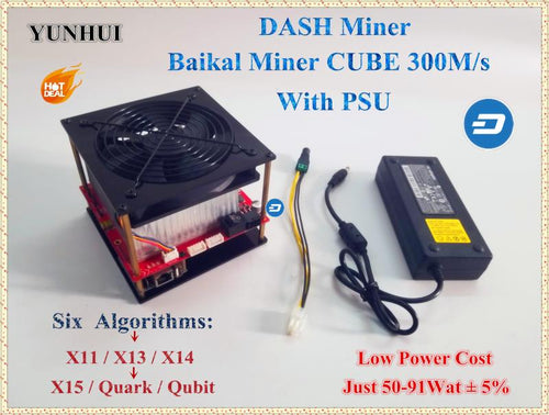 X14 X13 Baikal CUBE 300M/S With PSU Support 6 Algorithm X11 Dash Miner,Low Power Consumption - Mining Bonanza