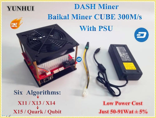 X11 DASH Miner Baikal CUBE 300M/S With Power Supply Support Algorithm X11 / X13 /X14/ X15 / Quar/qubit Better Than Antminer D3 - Mining Bonanza