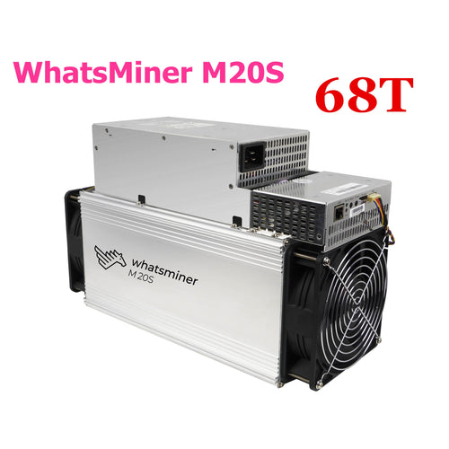 BTC BCH Miner WhatsMiner M20S 68T Bitcoin Miner With PSU Better than WhatsMiner M3 M3X M21 M21S Antminer S9 T9+ S15 S17 T17 S17e - Mining Bonanza