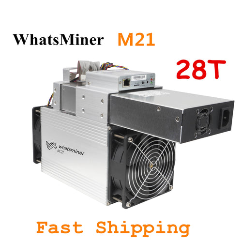 BTC BCH Miner WhatsMiner M21 28T Bitcoin Miner With PSU Better than WhatsMiner M3 M3X M20S M21S Antminer S9 T9+ S17 T17 S17e - Mining Bonanza
