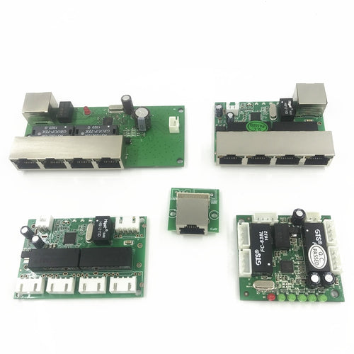 5 port ethernet switch   circuit board for ethernet switch module 10/100mbps 8 port PCBA board OEM Motherboard  asic miner
