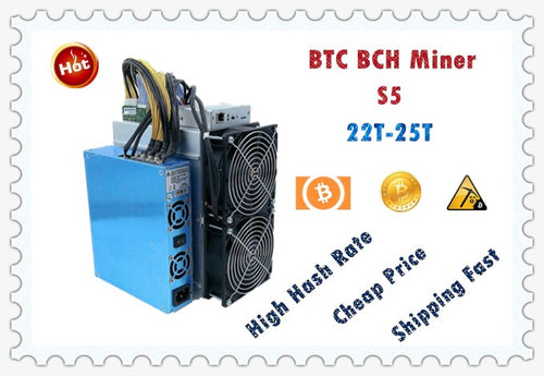 BTC Miner S5 22T With PSU Economic Than Antminer S9 S9k S9j S17 T17 S17E S17+ T9+ WhatsMiner M3X M21S M20S Ebit E9 E10