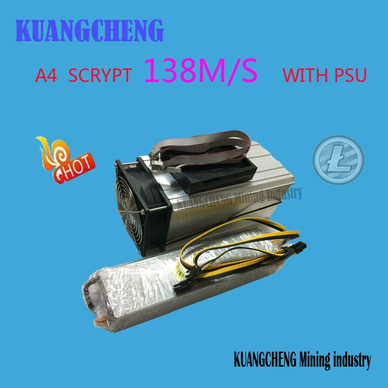 FERR SHIPPING   KUANGCHENG Mining industry sell A4 Dominator 138M Litecoin 14nm SCRYPT Miner with  power supply  better than A2 - Mining Bonanza