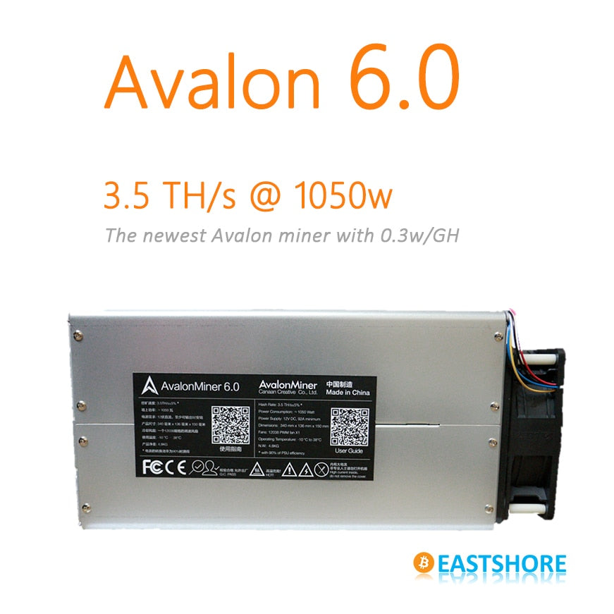 Bitcoin Miner Avalon 6 3.5TH Asic Miner 3500GH Newest Btc Miner Better Than Antminer S5 - Mining Bonanza
