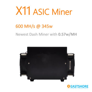 X11 Miner 600MH ASIC X11 Dash Miner PinIdea Dr3 600MH with only 345W - Mining Bonanza