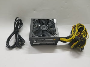 Lianli ETH ZCASH MINER  GOLD power supply 1600W 12V 120A (with power cable) suitable for miner R9 380/390 RX 470/480 RX 570/580. - Mining Bonanza