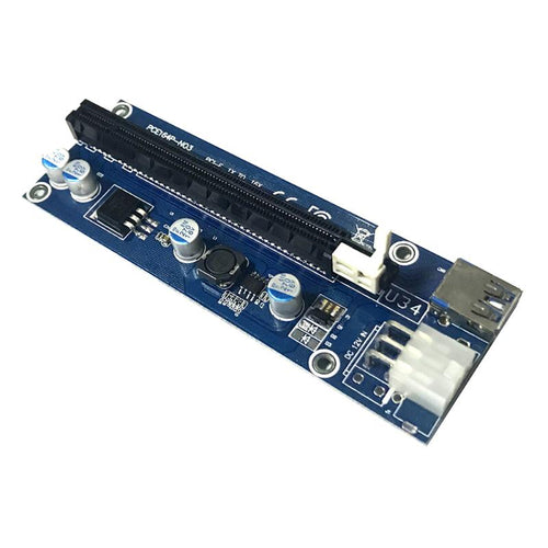 006C PCI-E Express 1x to 16x Extender Riser Card USB 3.0 6Pin SATA Interface Graphics Card Riser for Bitcoin Mining Miner BTC - Mining Bonanza