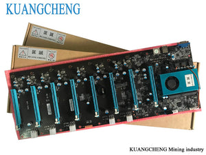 KUANGCHENG Mining Motherboard 8Graphics ETH miners (with cpu) BTC PLUS BTC ETH large board 8 GPU Antminer Mining Mainboard - Mining Bonanza