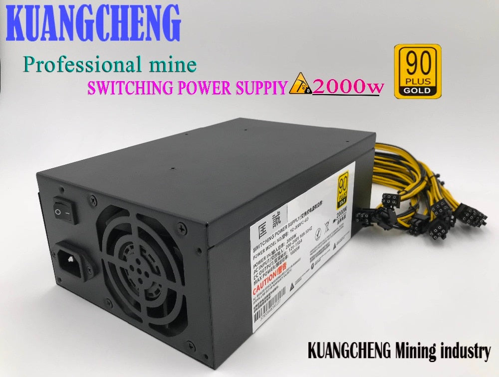 2000W psu Ant S7 A6 A7 S7 S9 L3 BTC miner machine server mining board power supply At the same time work two L3 + 10 baikal - Mining Bonanza