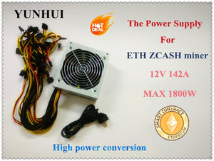 ETH ETC MINER PSU Gold POWER 1800W (with cable) ETH Miner Power Supply For R9 380 RX 470 RX480 6 GPU CARDS - Mining Bonanza