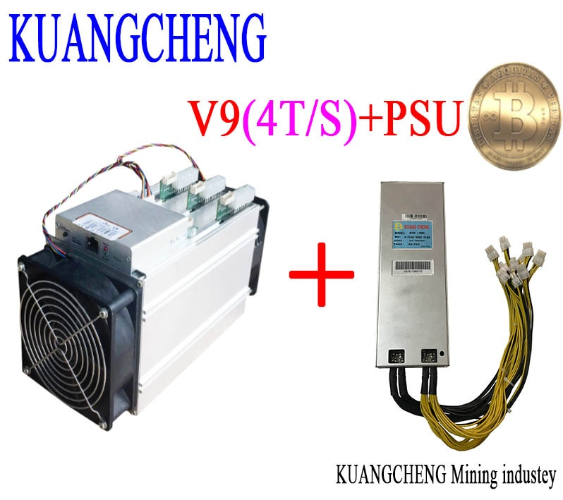 KUANGCHENG asic miner BITMAIN antminer V9 4TH/s (with PSU) Bitcoin Asic miner V9 Better than AntMiner S9 WhatsMiner M3 T9+ E9 - Mining Bonanza
