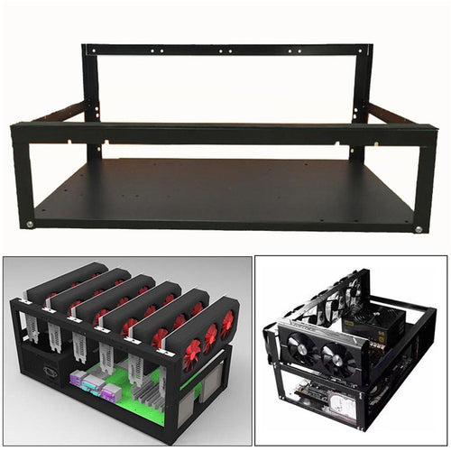 New 2018 Crypto Coin Open Air Mining Miner Frame Rig Case up to 6 GPU ETH BTC Ethereum 180313 drop shipping - Mining Bonanza