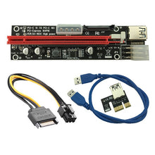 Load image into Gallery viewer, USB 3.0 Extender Flexible Cable PCIE PCI-E PCI Express 1X to 16X Riser Card SATA 4Pin 6Pin Power for Bitcoin BTC Miner Mining - Mining Bonanza