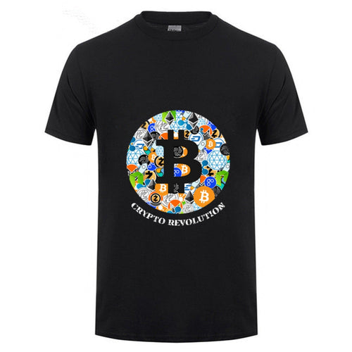 T Shirt Cryptocurrency Bitcoin Litecoin Dash Zcash Ethereum Monero Homme T-shirt Short Sleeve 100% Cotton Men hombre camiseta - Mining Bonanza