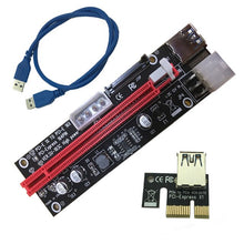 Load image into Gallery viewer, 4pin 6pin SATA Power PCI Express 16X Slot Riser Card USB 3.0 PCI-E PCI-Express 1x to 16x PCIE Riser for Bitcoin BTC Miner Mining - Mining Bonanza