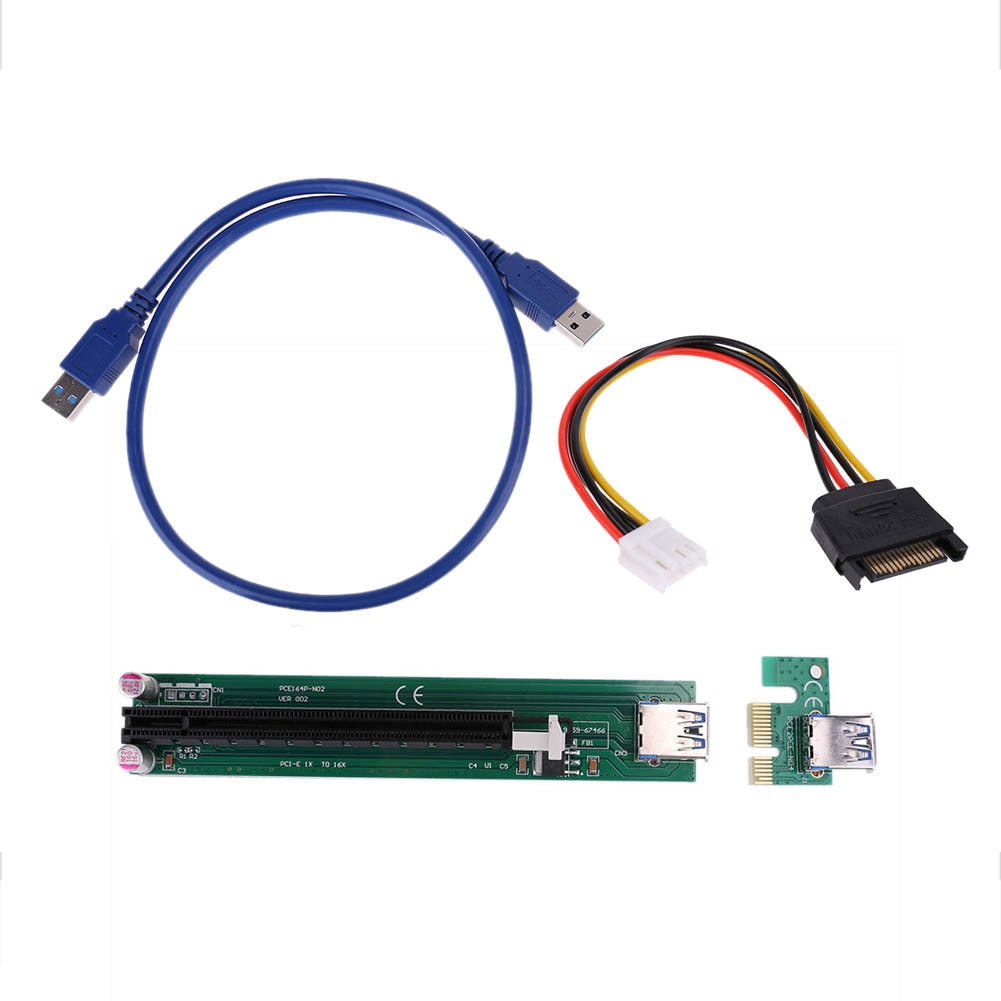 PCIe PCI-E Express 1x to 16x USB 3.0 Powered Board Extender Riser Adapter Graphics Card For BTC Mining Miner Machine - Mining Bonanza