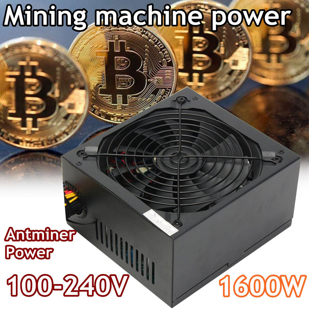 1600W Modular Power Supply For 6 GPU Eth Rig Ethereum Coin Mining Miner Machines High Quality Computer power Supply For BTC - Mining Bonanza