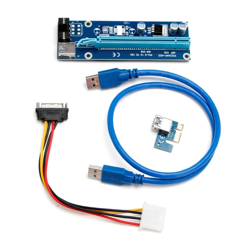 USB 3.0 PCI-E Powered Riser Card Sata 15 pin Power Cable Extender Cable 1x to 16x Monero For Graphics Cards - Mining Bonanza