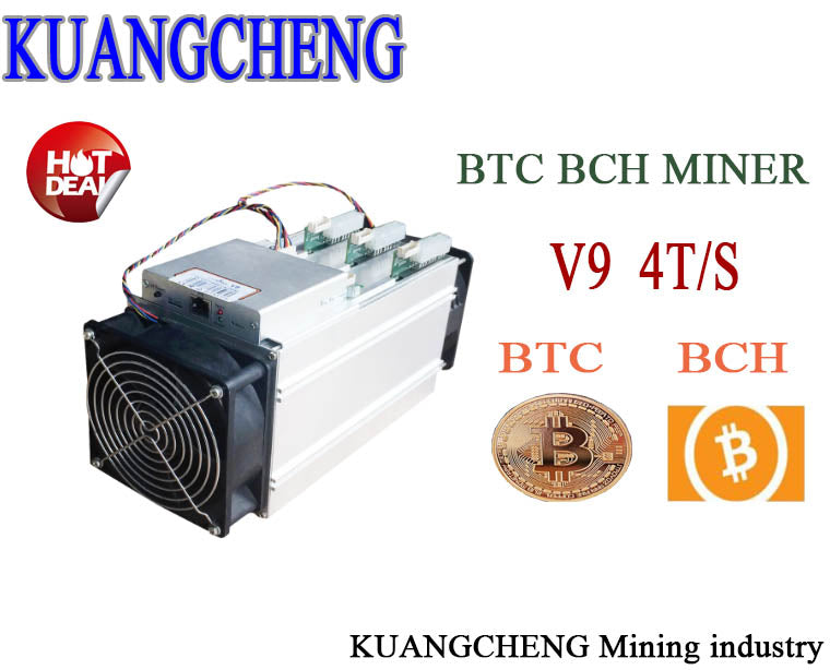 KUANGCHENG 16nm AntMiner V9 4T/S Bitcoin Miner (NO PSU) Asic Miner use BTC BCH BCC  antminer S3 S5 S7 - Mining Bonanza