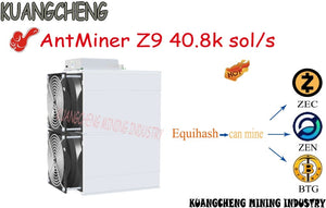 KUANGCHENG sell ASIC miner AntMiner Z9 40.8k sol/s can mine ZEC ZEN BTG Equihash Mining machine new z9 mienr good profits. - Mining Bonanza
