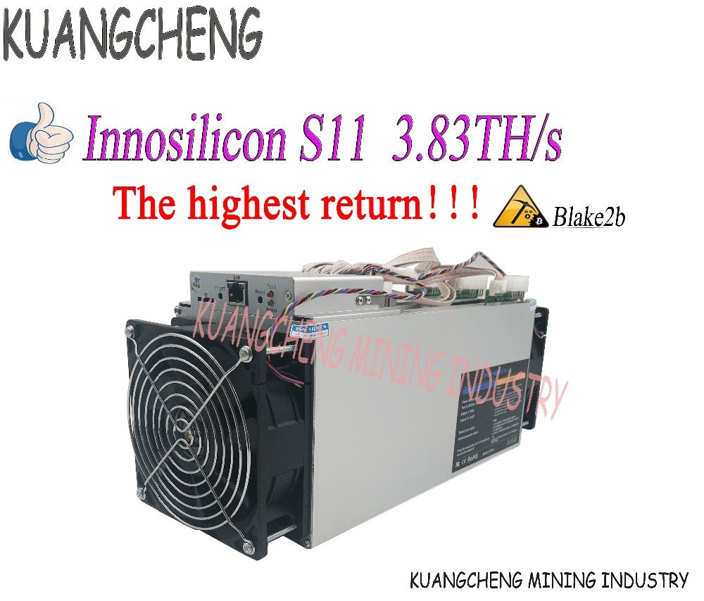 New Miner Innosilicon S11 3.83TH/s Siacoin mining ASIC miner  Blake2b SC mining machine Better than ANTMINER A3 - Mining Bonanza