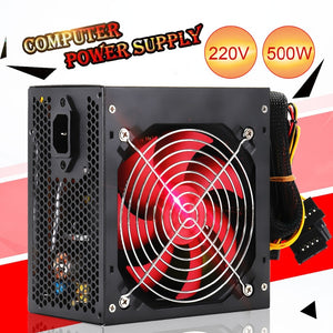 Quiet 400W/500W Desktop BTC Miner Power Supply With SATA 20PIN+4PIN Power Supply ATX Power Switching For Miner Mining - Mining Bonanza